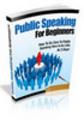 Thumbnail Public Speaking For Beginners  PLR