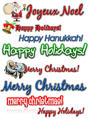 Product picture Holiday Clipart Collection MRR