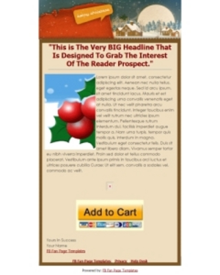 Product picture Christmas Facebook Fanpage Templates