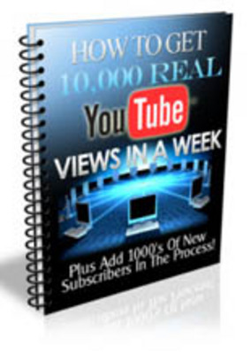 Product picture Get 10000 Views On YouTube  Unrestricted PLR